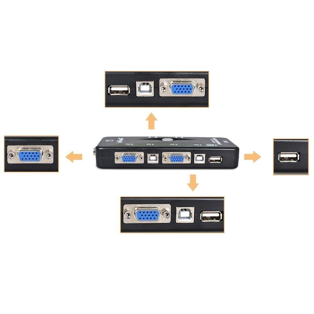 Pruthvik 4 Port KVM Switch