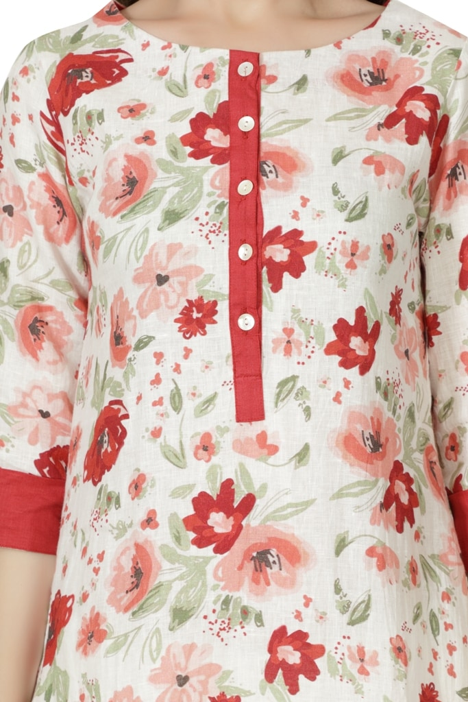 190234 The Cherry Blossom Tunic (XL,Red)