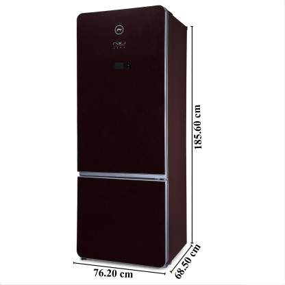 Godrej 430 L Frost Free Double Door Bottom Mount 3 Star 2019 BEE Rating Refrigerator (Ruby Wine, RB NXW AURA 445MDI 3.4)