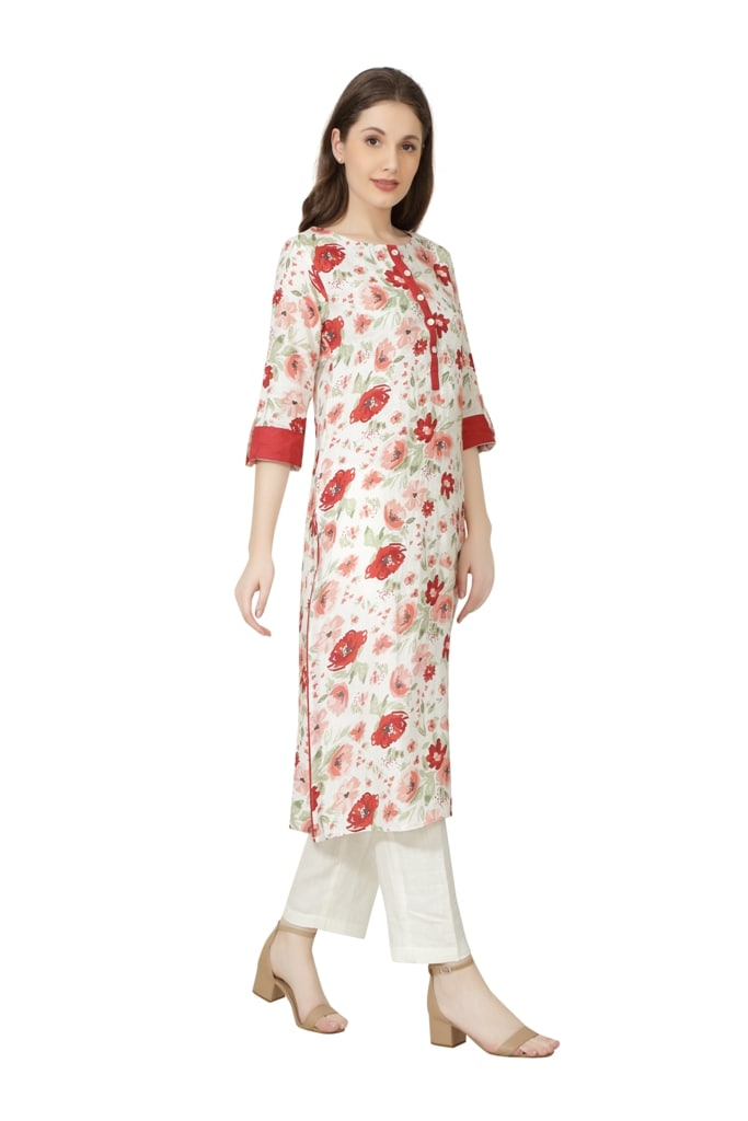 190234 The Cherry Blossom Tunic (S,Red)