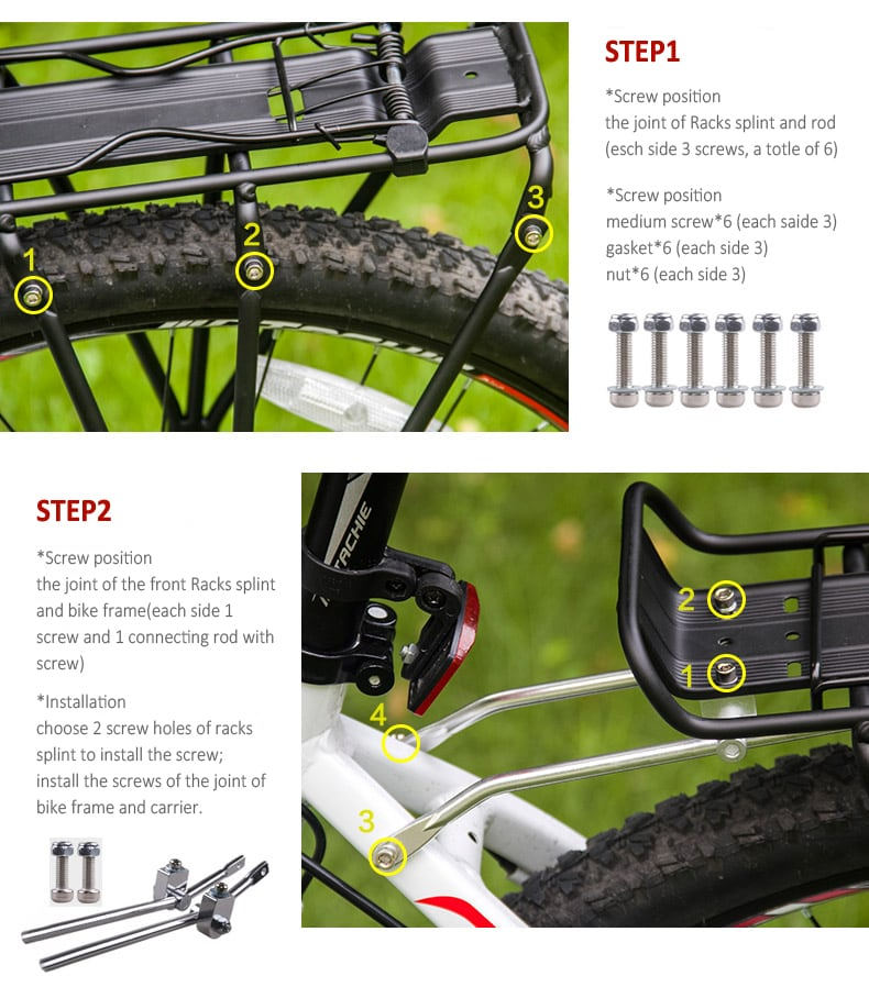 Cycle Rear Luggage Carrier- Touring 4