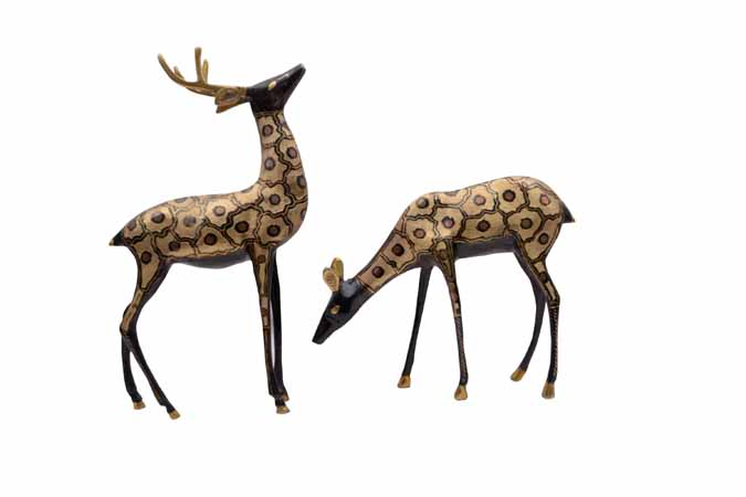 Brass  Deer Set MH492