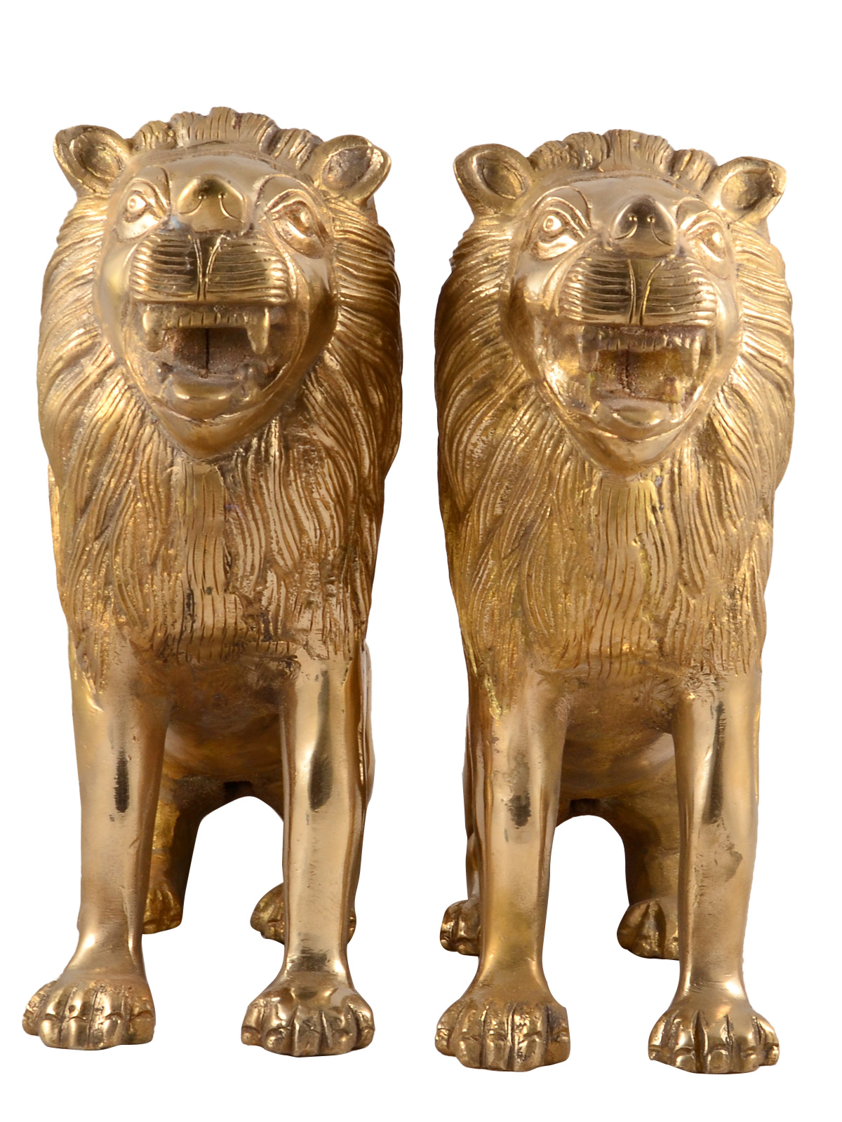 Brass Pair Of Lion Statue MH99