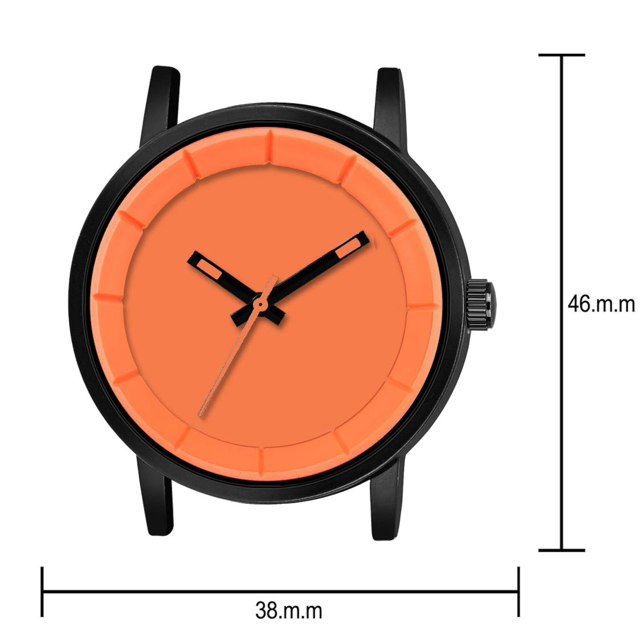 Fashion Now Casual And Office Wear Men Watch (Orange)