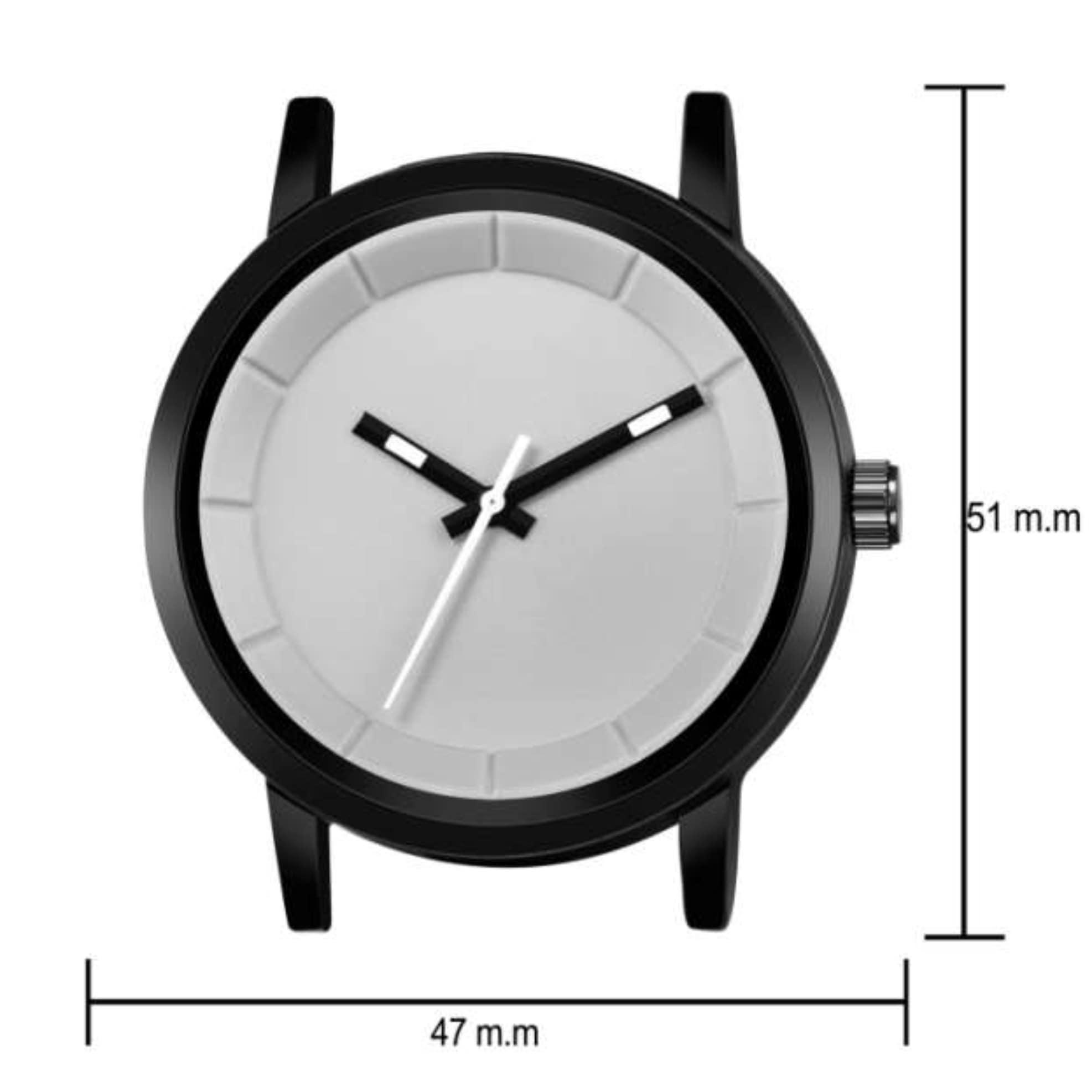 Fashion Now Trendy Casual Analog Men Wrist Watch (Grey)
