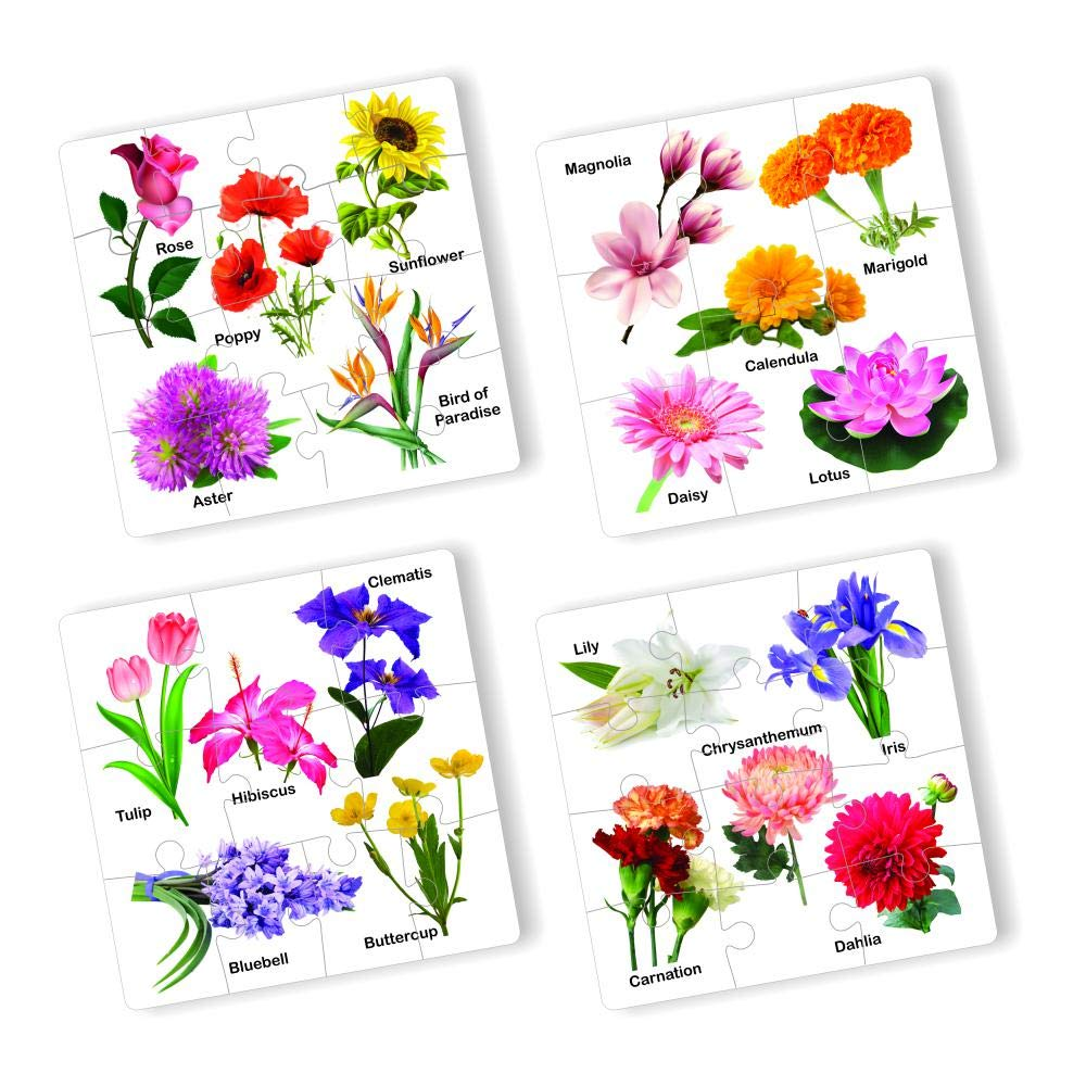 Educational Flower Jigsaw Puzzle