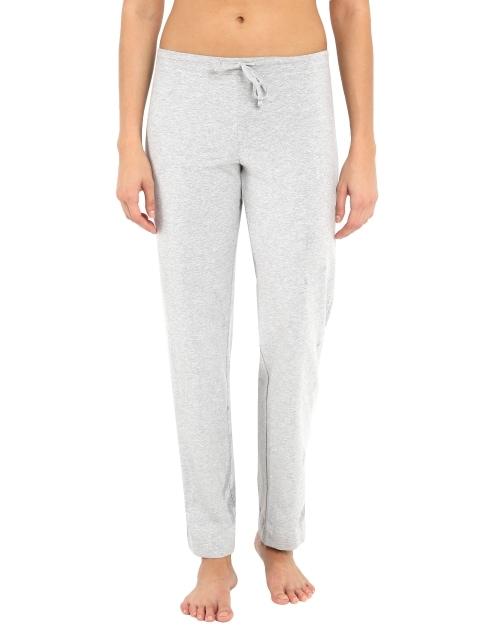 Jockey Womens Grey Melange Track Pant (L,Grey Melange)