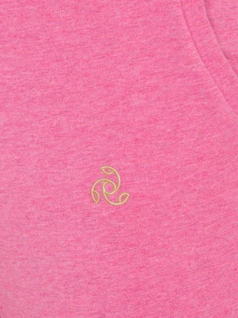 Jockey Womens Rose Melange Cuffed Track Pant (L,Rose Melange)