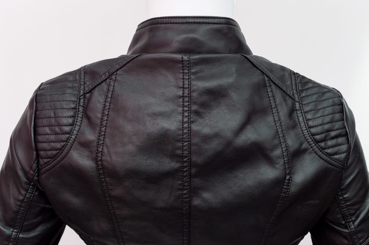 Black Leather Jacket (S,Black)