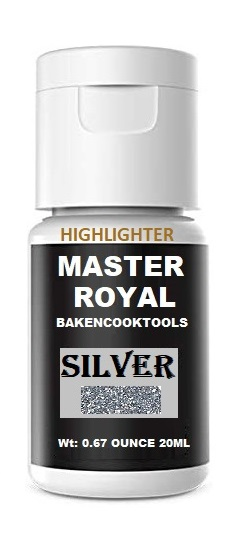 Master Royal Backncook Tools Concentrated Gel Food Colour (Pack Of 3) Gold/Silver/Copper