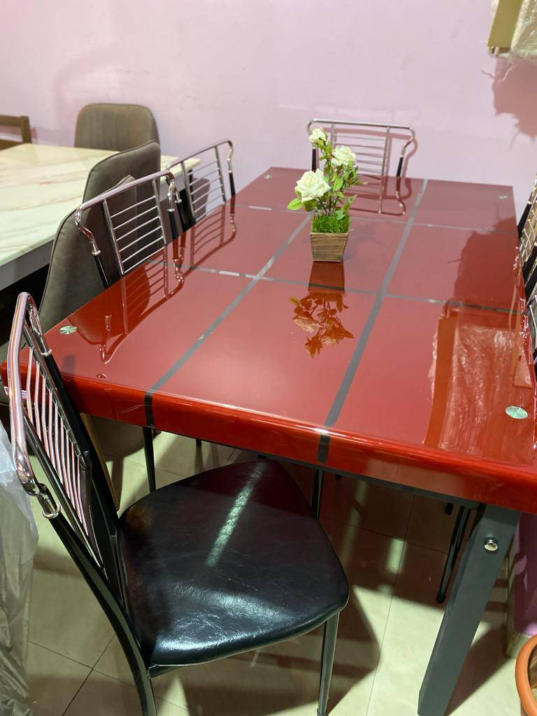 Glass Dining Table -(6+1)