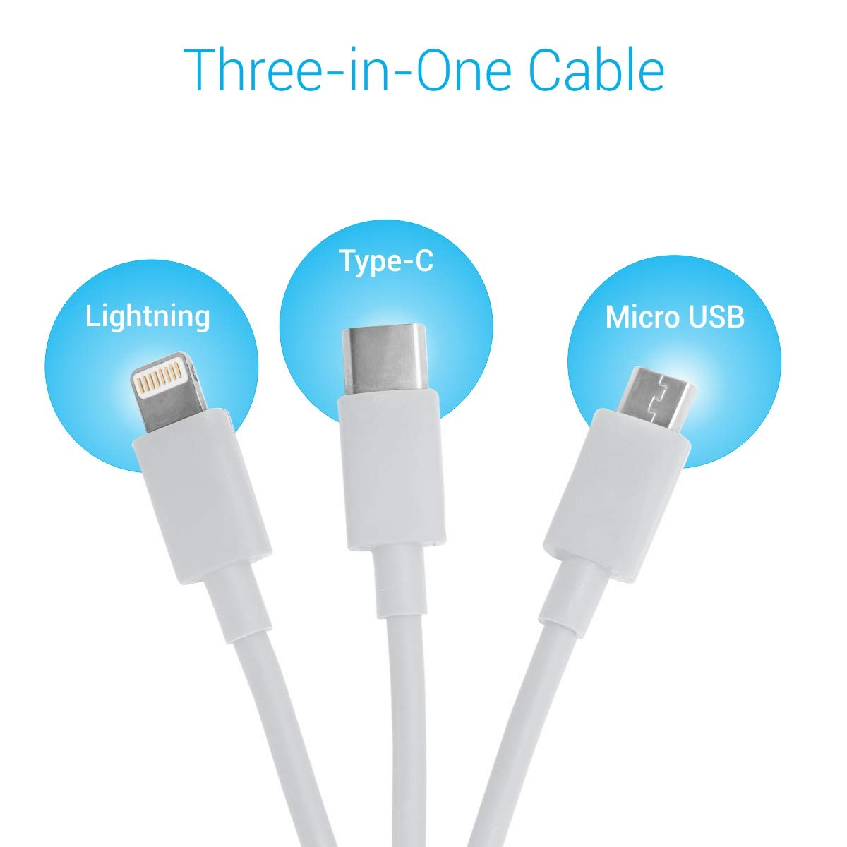 POR 065 CHARGING CABLE ONLY 3 IN 1(WHITE)