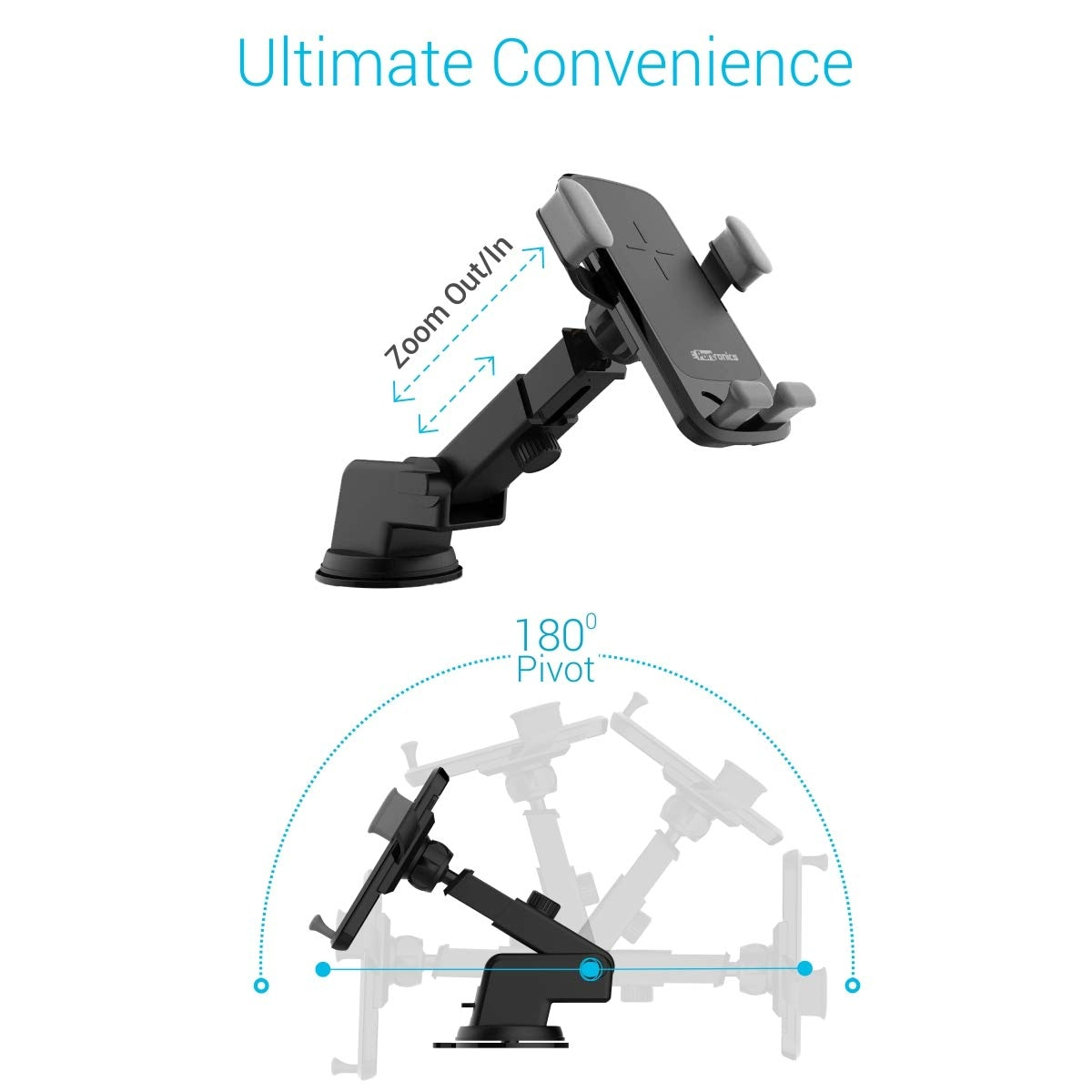 POR 044 CHARGE CLAMP WIRELESS CHARGER+MOBILE STAND
