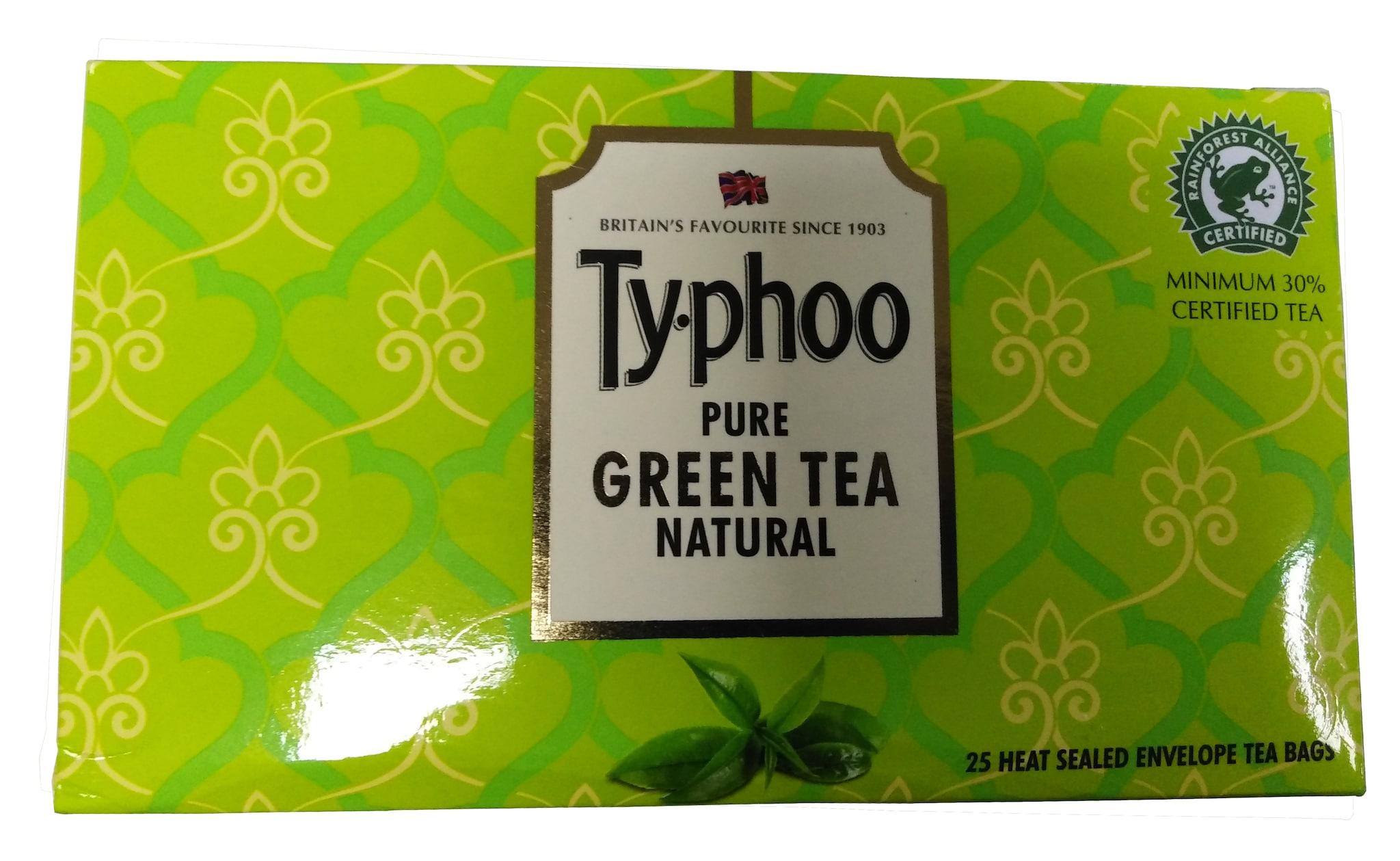 Typhoo Pure Natural Green Tea 25 Tbag