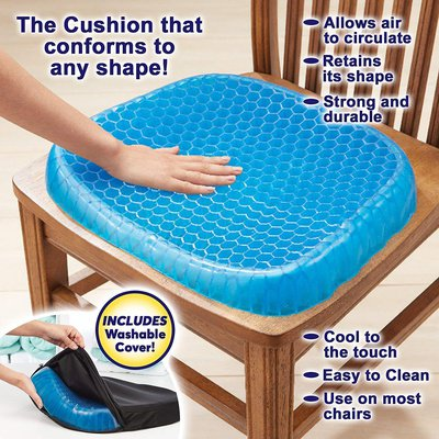 Egg Sitting Gel Flex Cushion Seat Sitter Flex Pillow Back Support Sit On An Egg