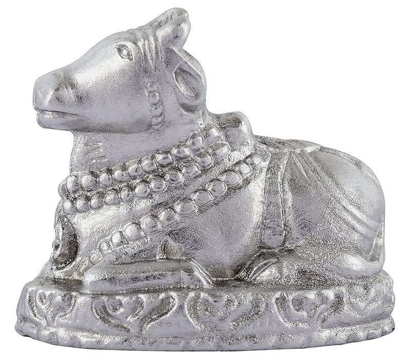 Numeroastro Pure & Genuine Parad | Mercury Nandi Ji Idol (45-50 Grams Approx) (Small) (1 Pc)