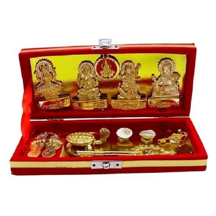 Numeroastro Shri Dhanlaxmi Shri Kuber Bhandari Yantra (Total 13 Items In The Box)