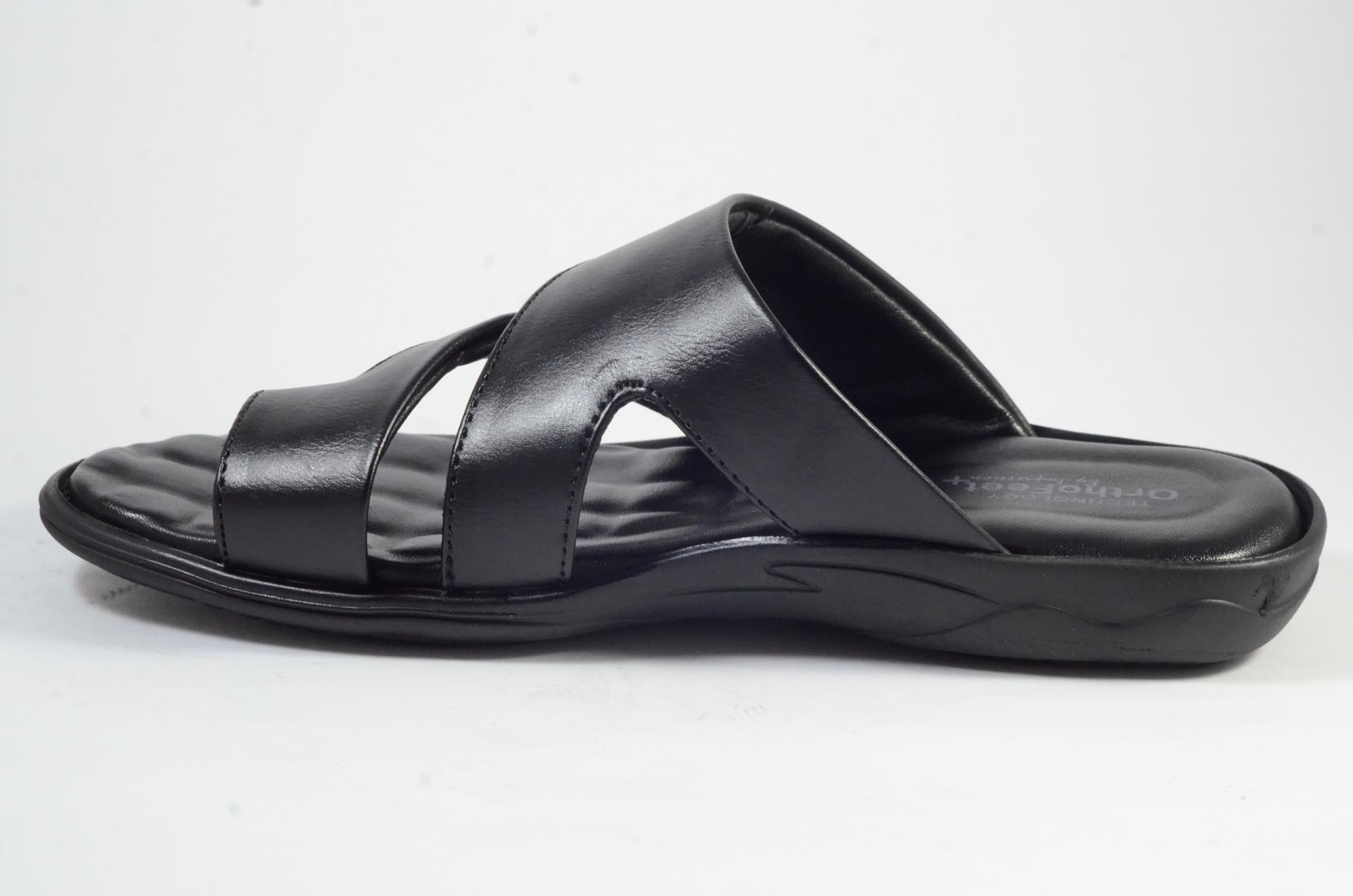DOCTOR ORTHO SLIPPERS COMFORTABLE AND BEST QUALITY KS_255 (BLACK,7-10,4)