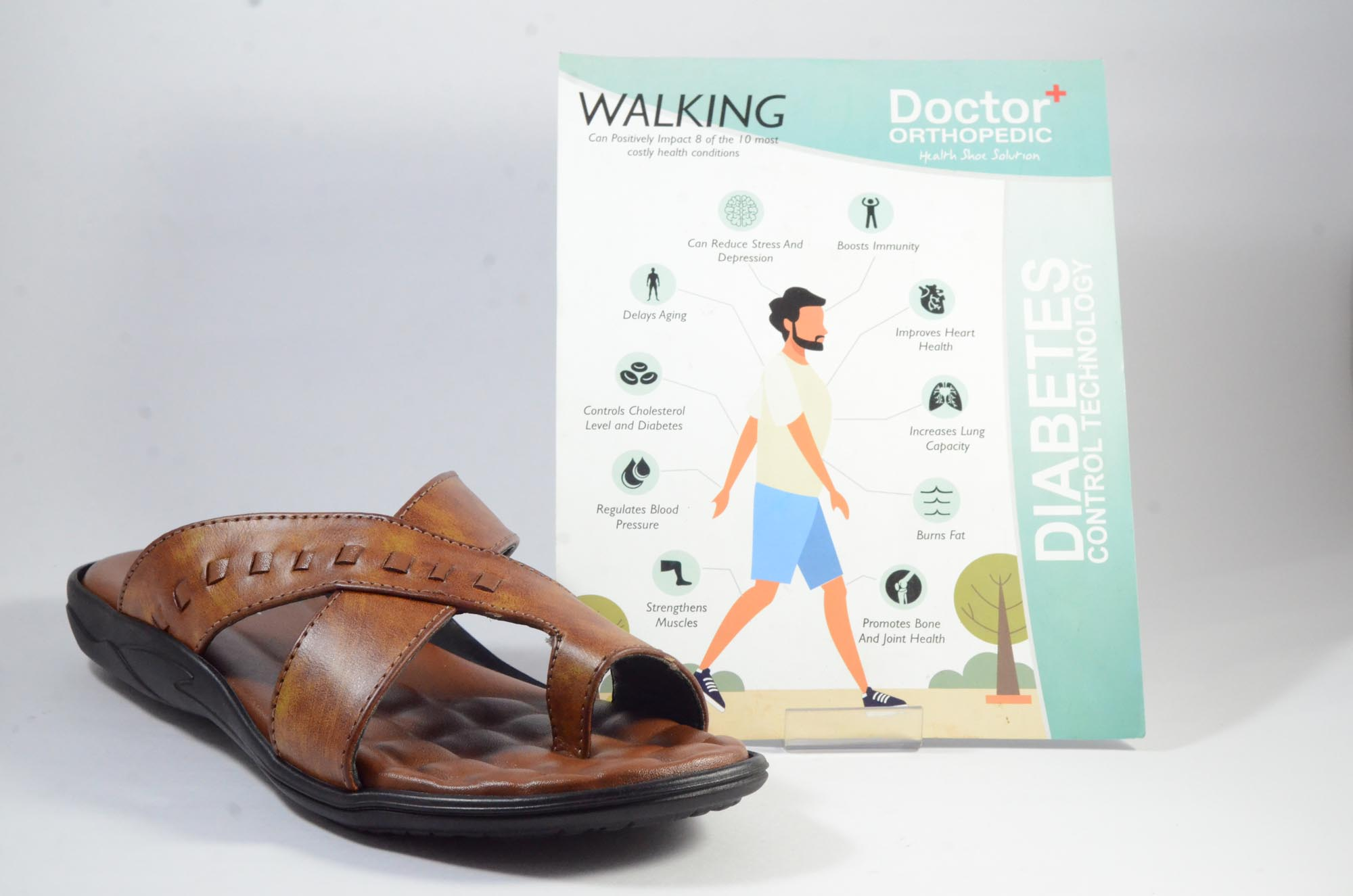 DOCTOR ORTHO SLIPPERS COMFORTABLE AND BEST QUALITY KS_241 (TAN,7-10,4)