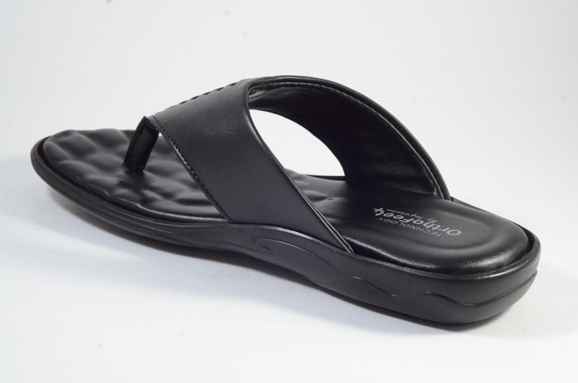 DOCTOR ORTHO SLIPPERS COMFORTABLE AND BEST QUALITY KS_244 (BLACK,7-10,4)