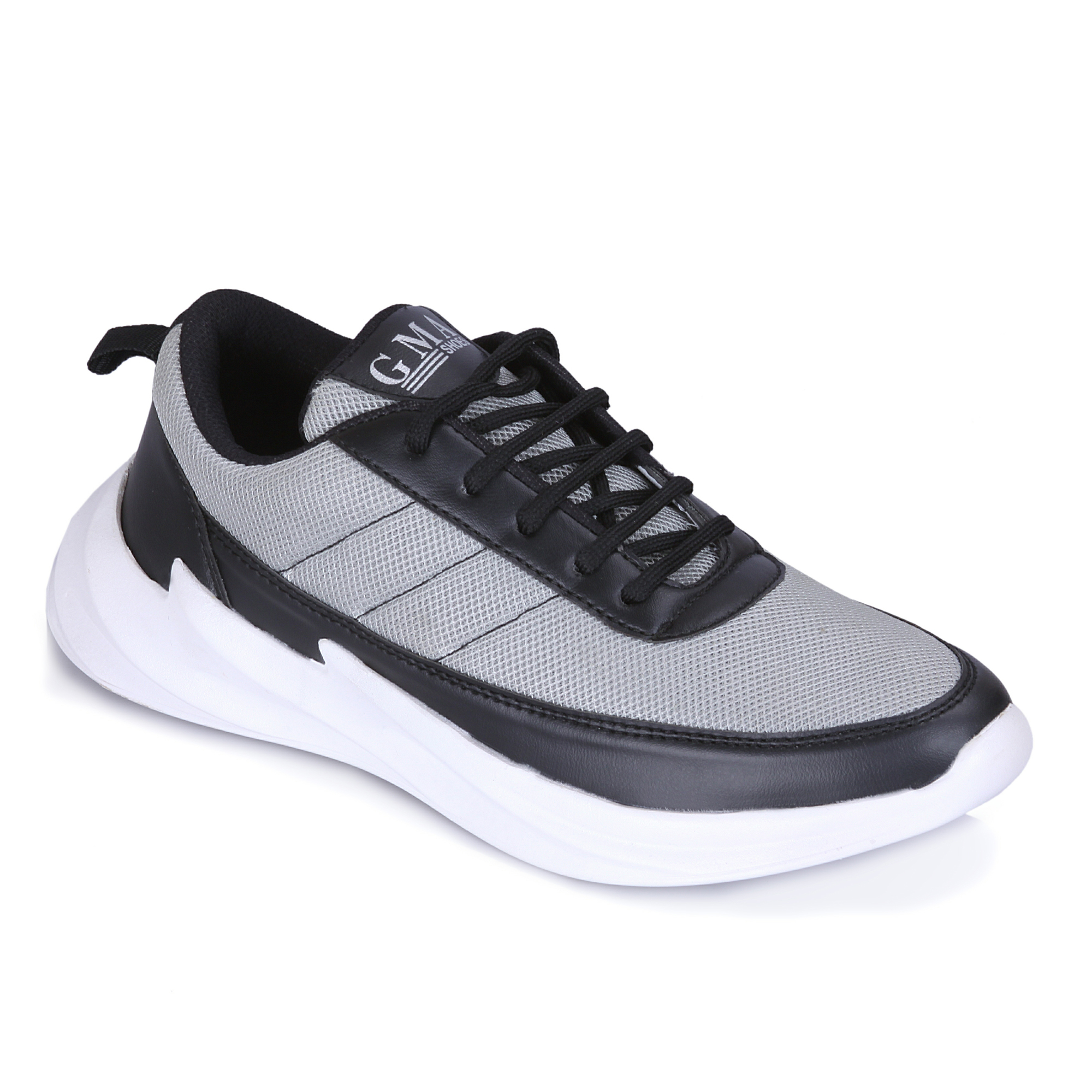G.M.A Shark Casual Shoe For Men's GM1035_SHARK_GREY (Grey, 6-10, 8 PAIR)