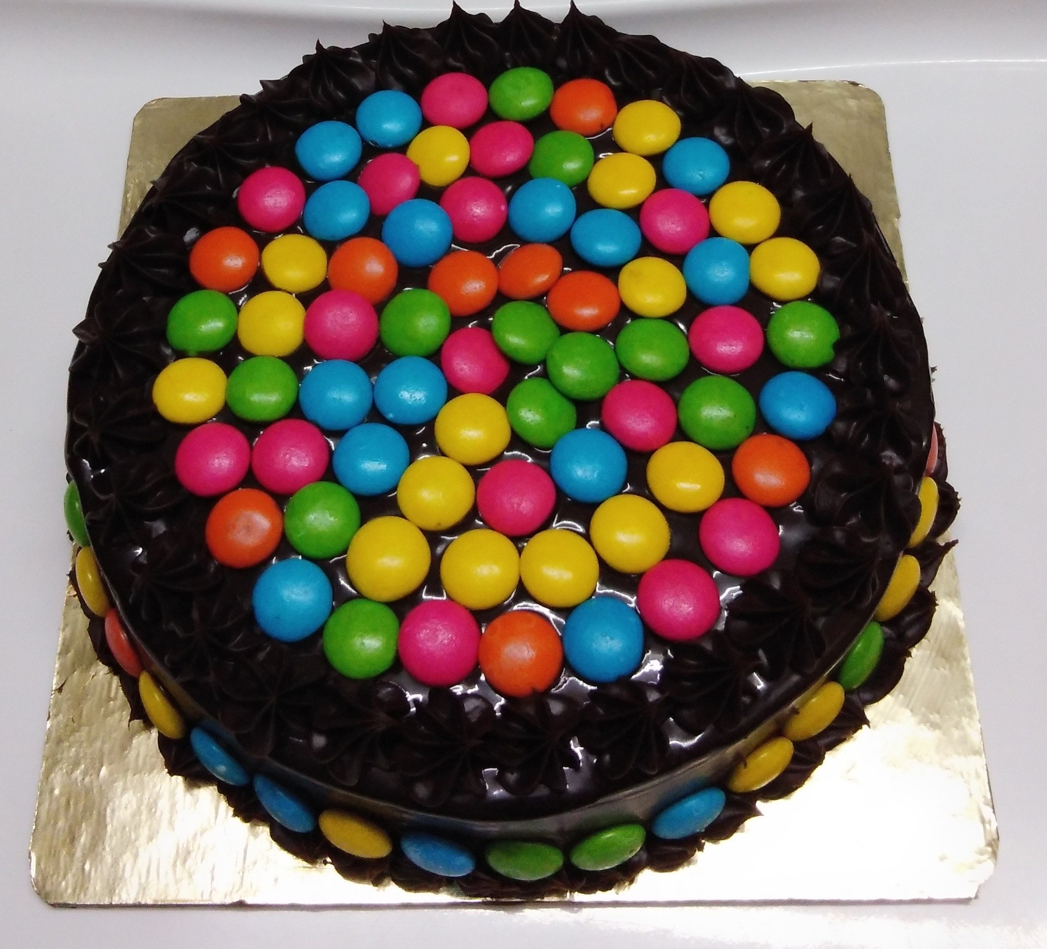 Chocolate Gems Balls Multi Colours Cake Decoration 100 Gm - Divena In