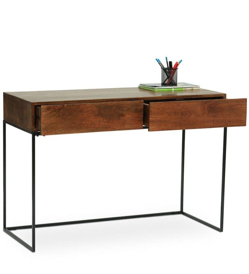 Verona Study & Laptop Table In Walnut Finish