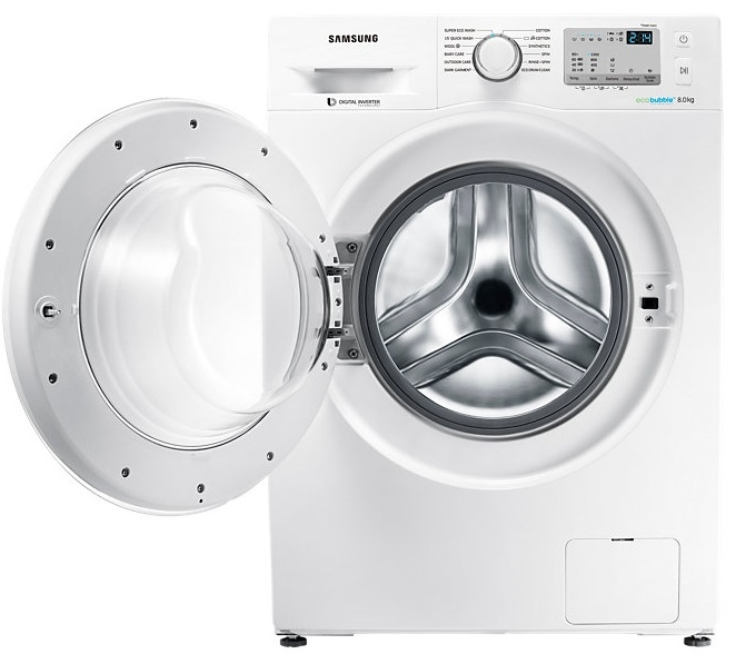 Samsung 8 Kg Fully-Automatic Front Loading Washing Machine (WW80J4213KW/TL, White)