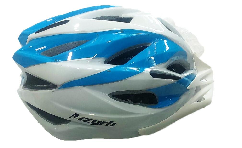 Adjustable Cycling Helmet D 104 (L,Blue & White)