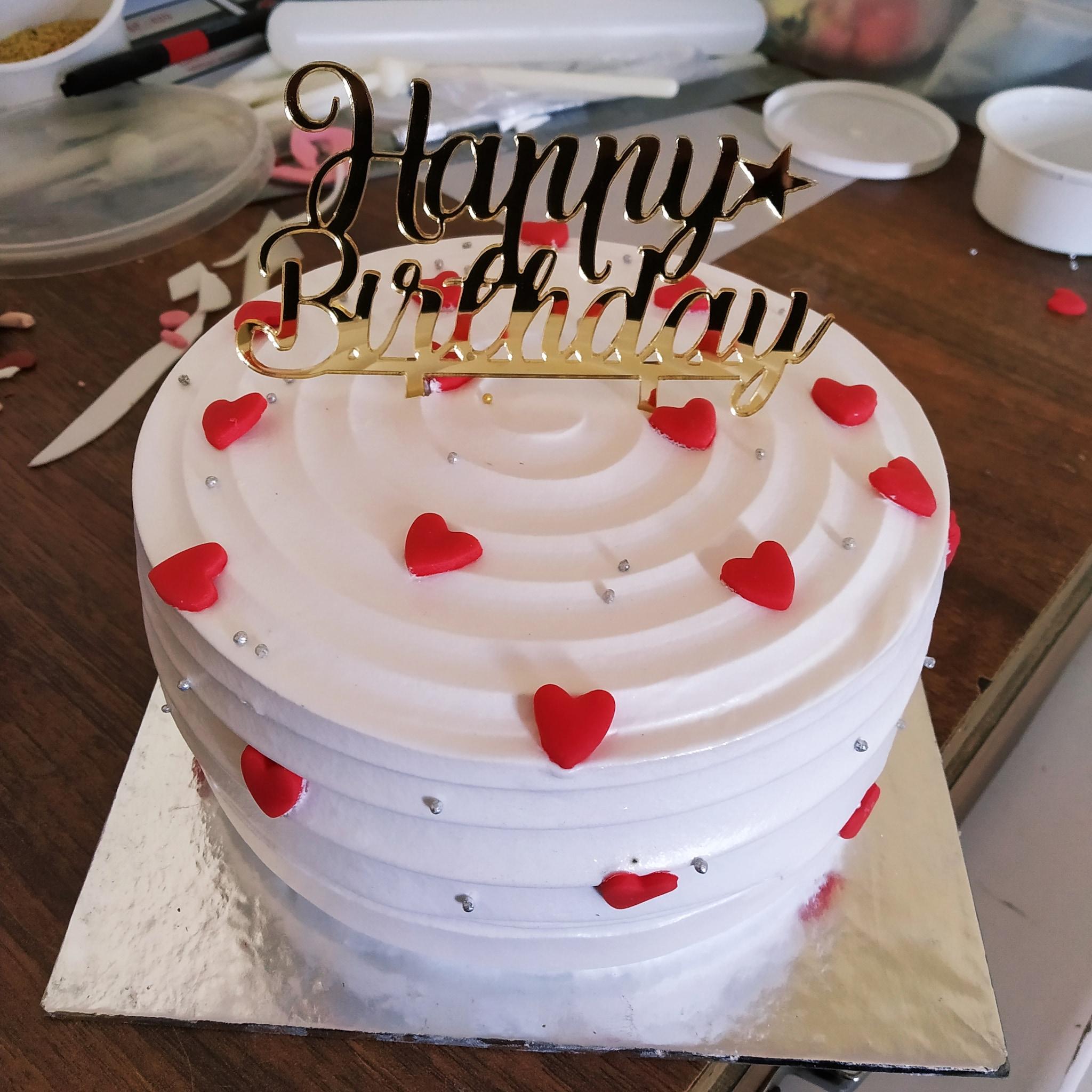 Little Hearts Cake (500 Gm,Chocolate)