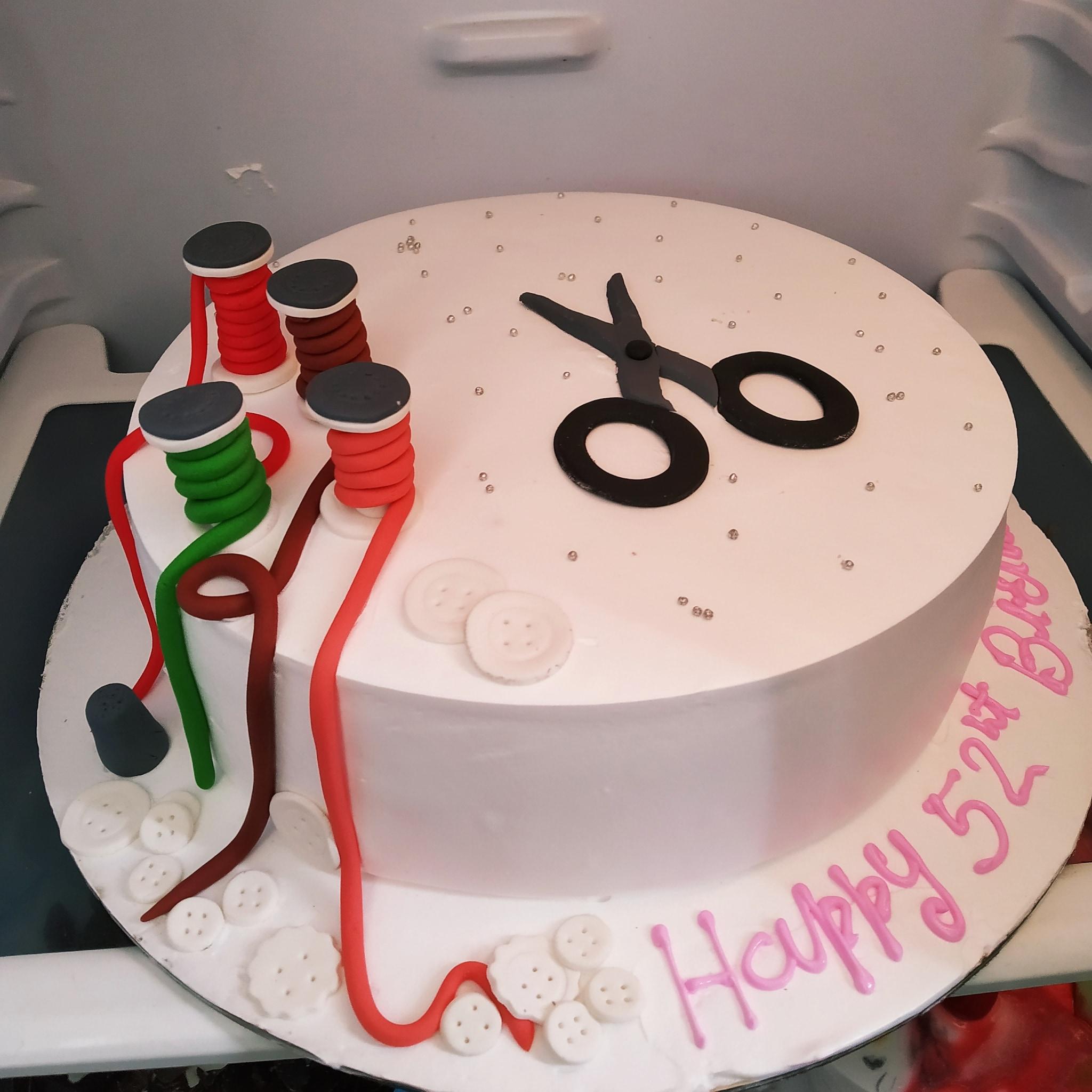 Fashion Designing Cake (1 Kg,Chocolate)