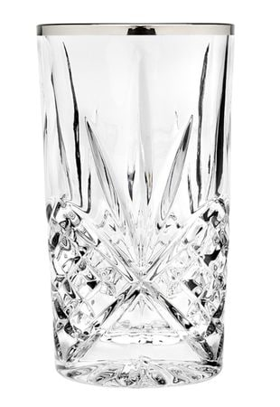 Godinger Dublin Set Of 4 Highball Glasses - Platinum [25437]