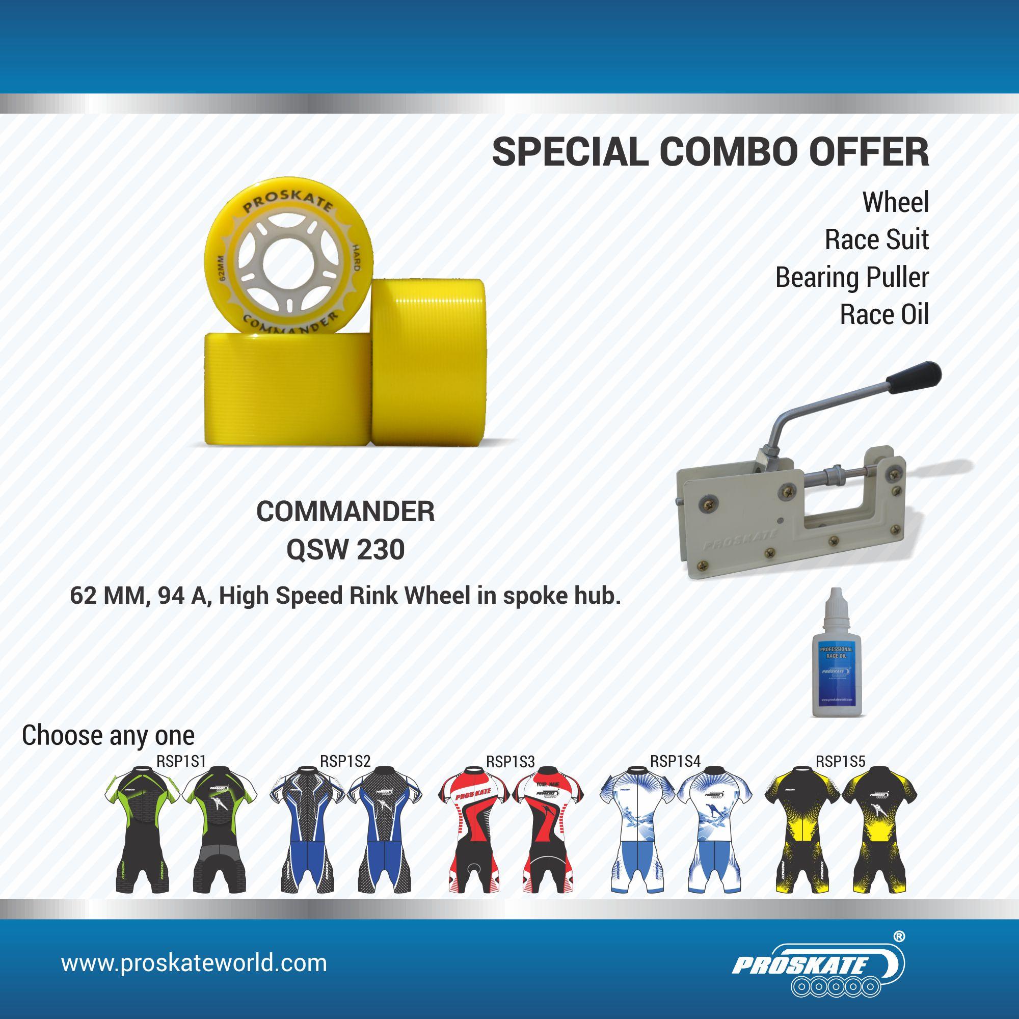 PROSKATE COMMANDER WHEEL COMBO (COMBO B)