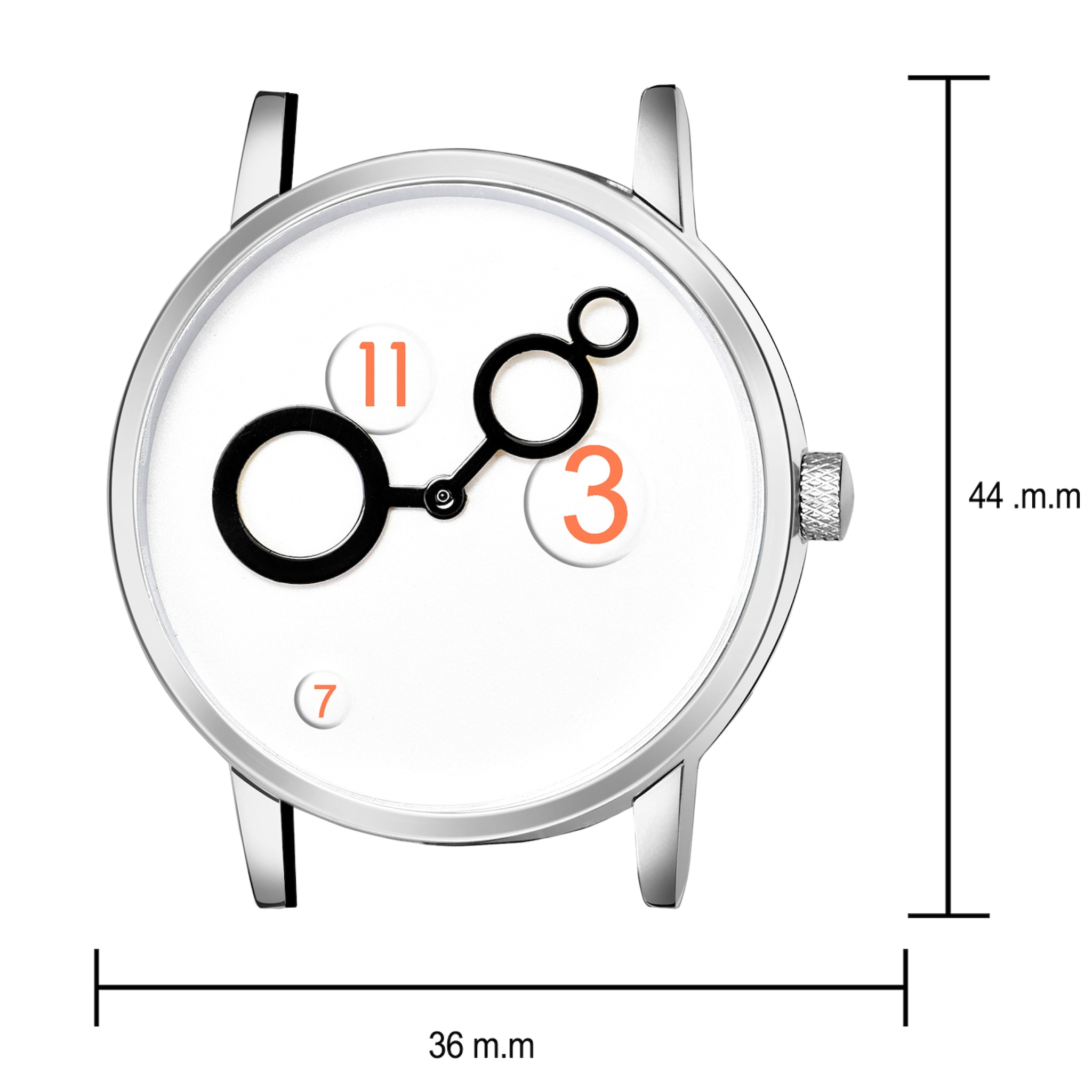 Fashion Now New Black Leather Strap Fancy Hand Casual Men Wrist Watch