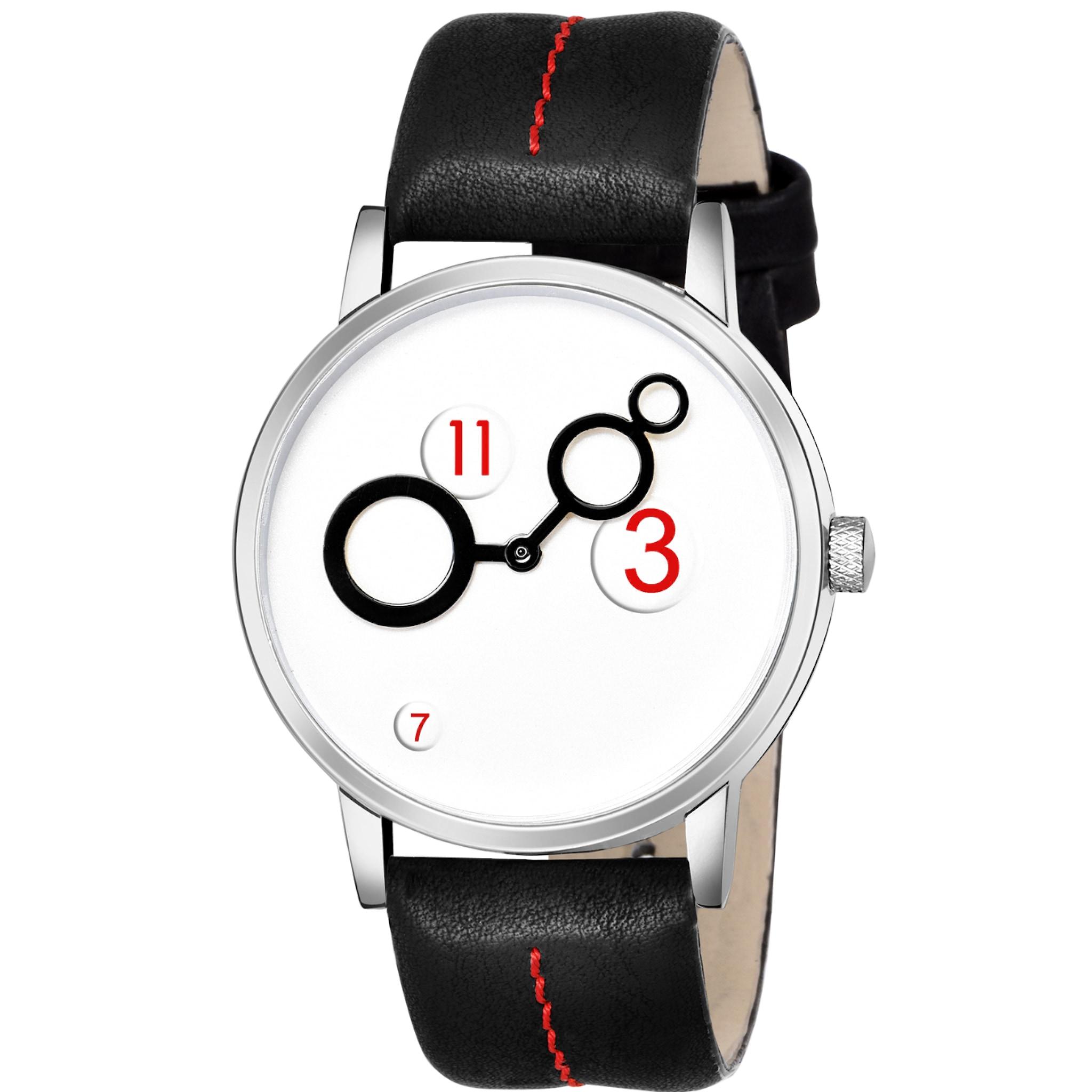 Fashion Now Leather Strap White Dial Men Watch