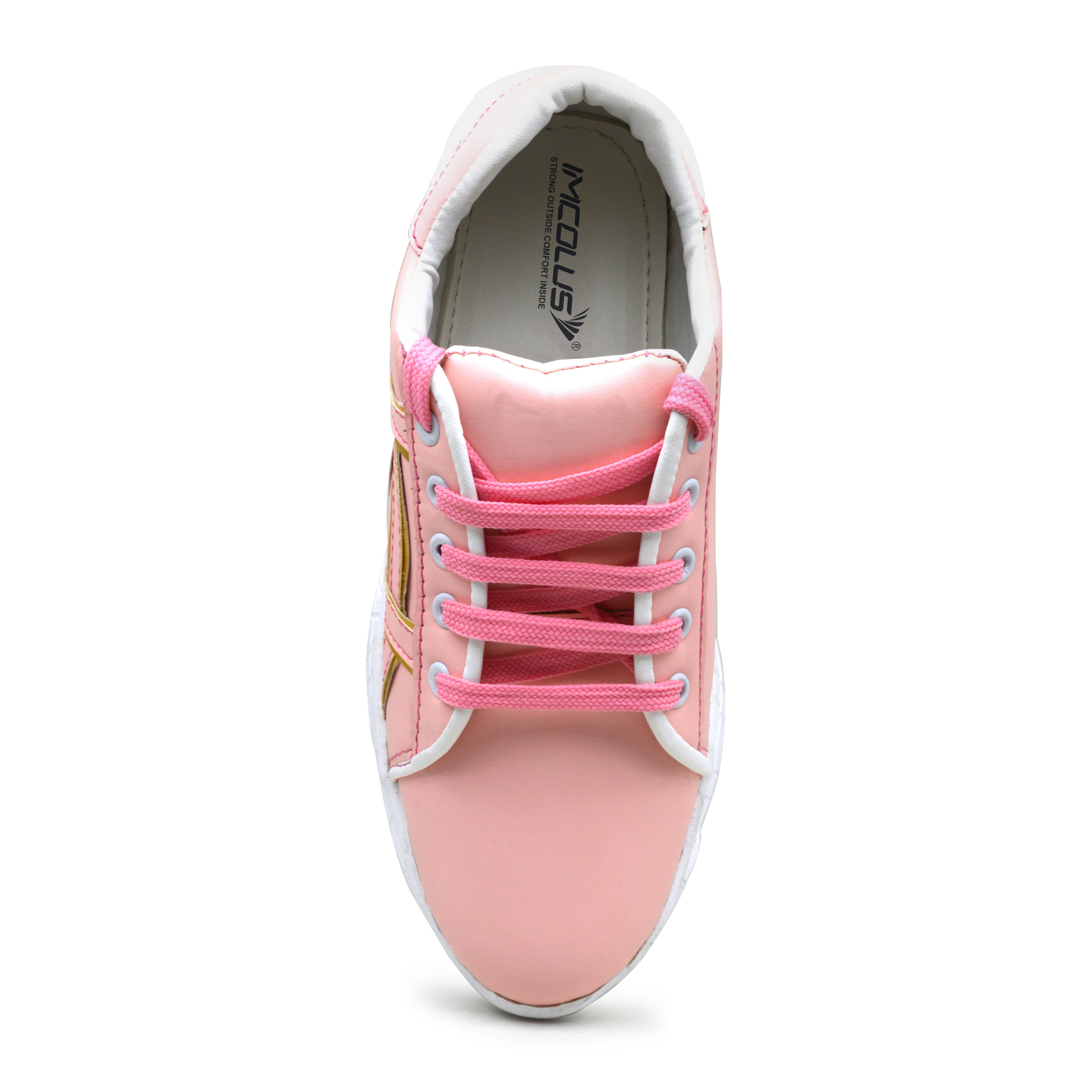 IMCOLUS437.737_PINK RUNNING & COMFORTABLE GIRL'S SPORT SHOES IMCOLUS437.737_PINK (PINK, 36TO41, PAIR'S)