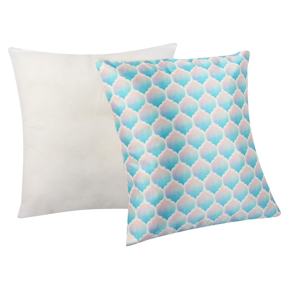 "Sattva Premium Digital Printed Cushion Cover CU021 With Filler Multicolor - Size 16""x16"""