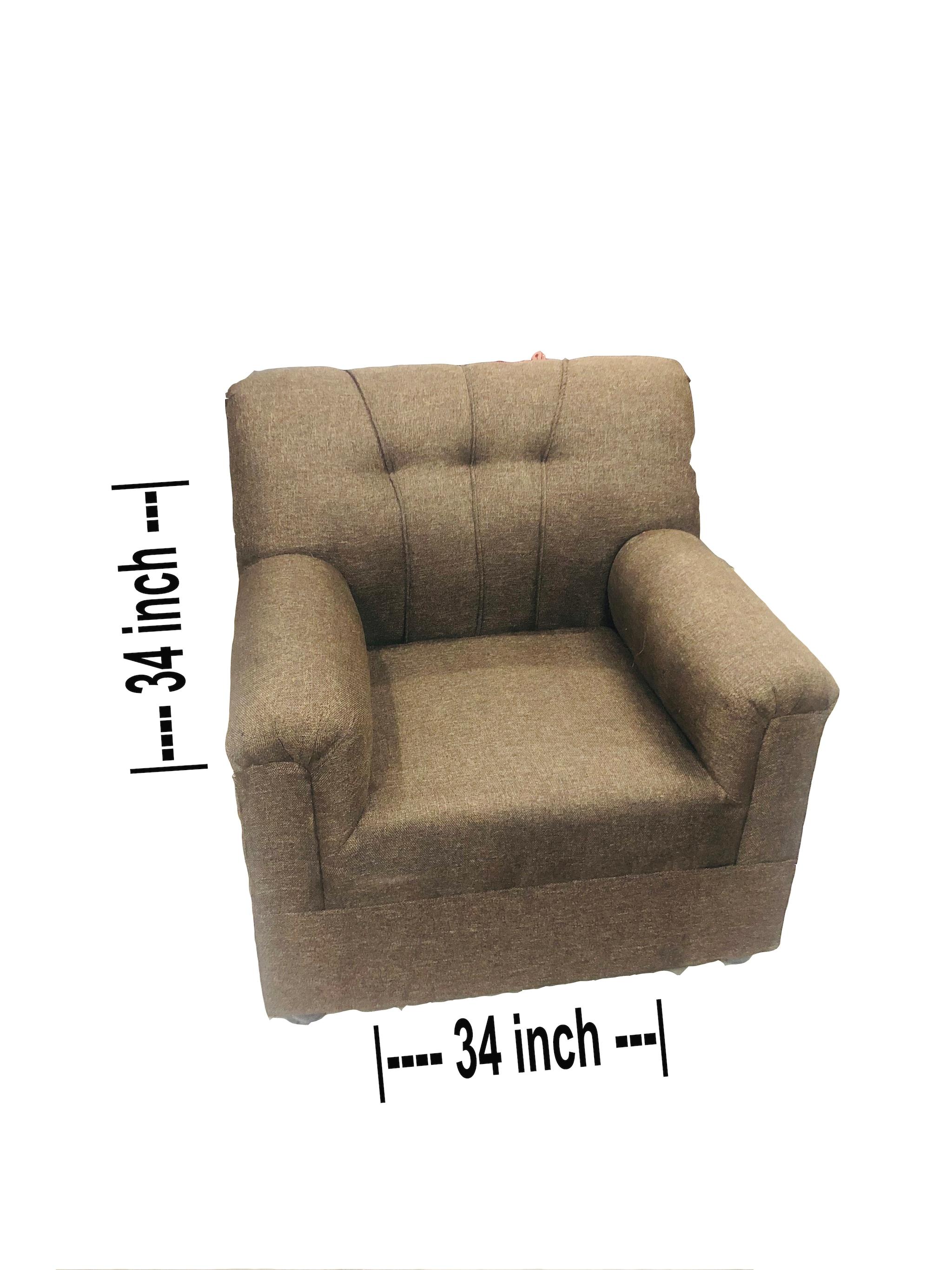 Basic Sofa 3+1+1 (Brown)