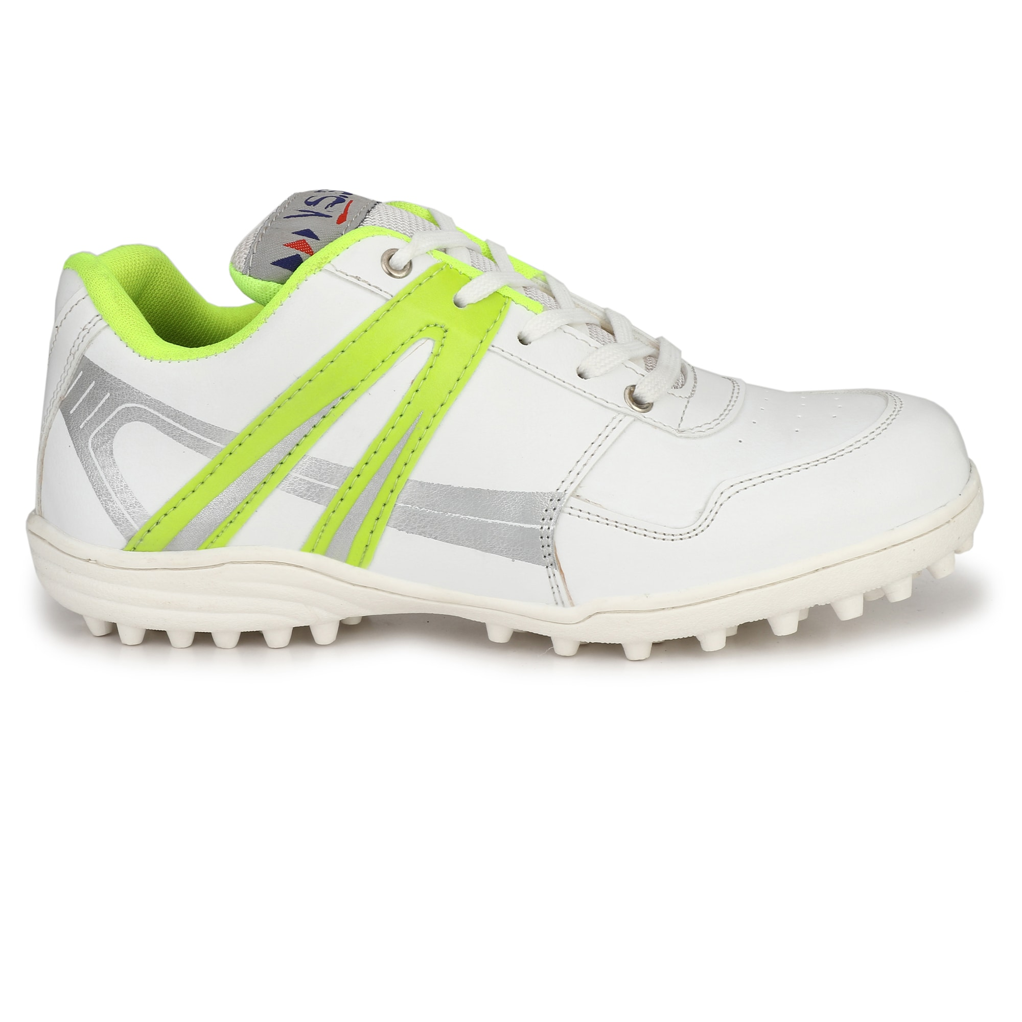 VSS Men's White Synthetic Leather Cricket Sports Shoes BCK046-WHITE (White,6-11,8 PAIR)