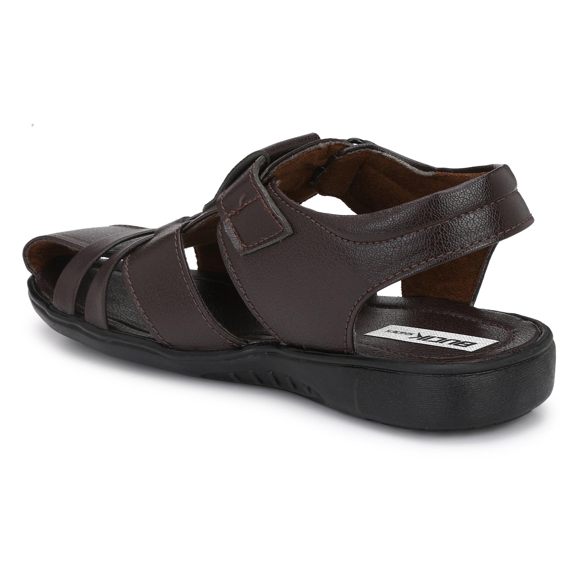 BUCIK Men's BROWN Synthetic Leather Casual Sandal BCK1021-BROWN (Brown,6-10,8 PAIR)