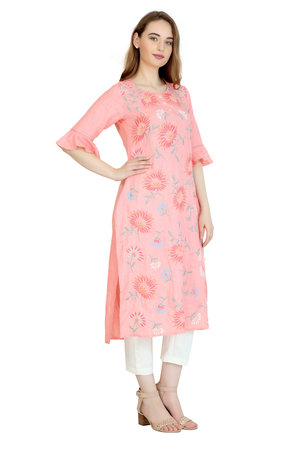 # 190074 Rose Parade Embroidered Linen Tunic