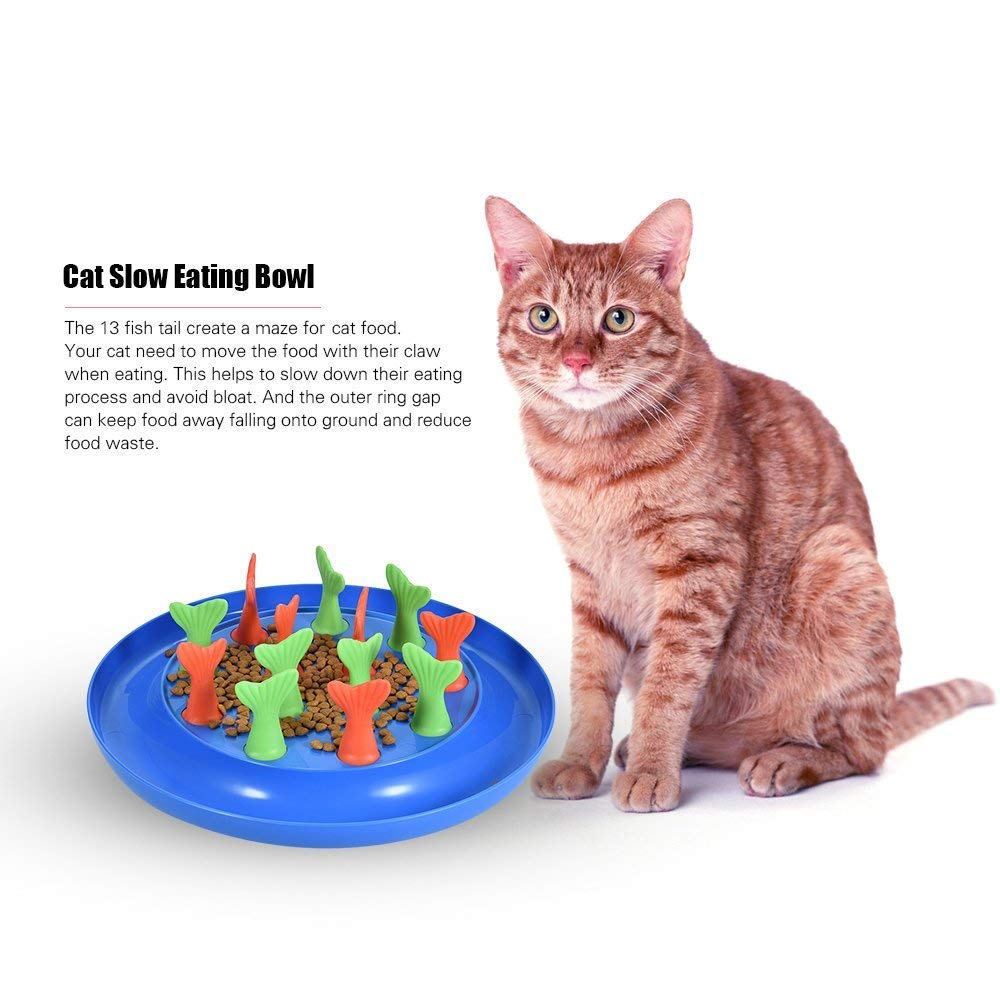 Pets Empire Cat Slow Feeder Bloat Stop Bowl Puzzle Food Feeding Dish Toy,Pack Of 1