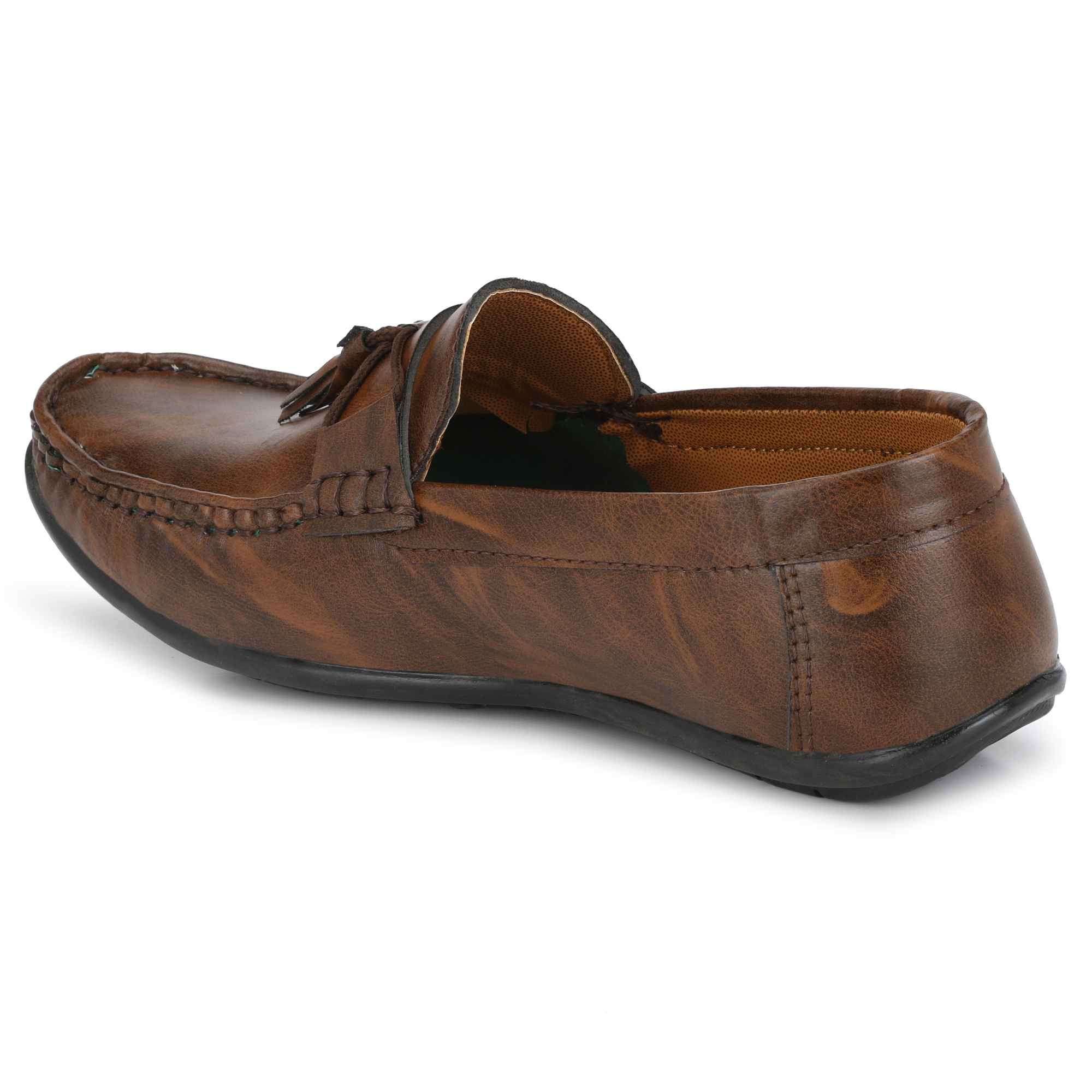 BUCIK Men's BROWN Synthetic Leather Loafers BCK1065-BROWN (Brown,6-10,8 PAIR)