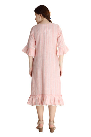 # 202046 The Dreamsicle Embroidered Linen Dress
