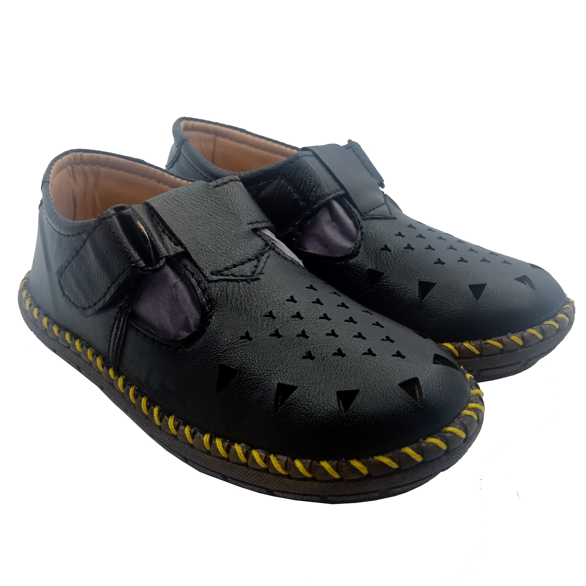A.P.S  KID'S COMFORTABLE STYLISH TRENDY & FASHIONABLE SHOES APS031K (BLACK,11-1,8 PAIR)