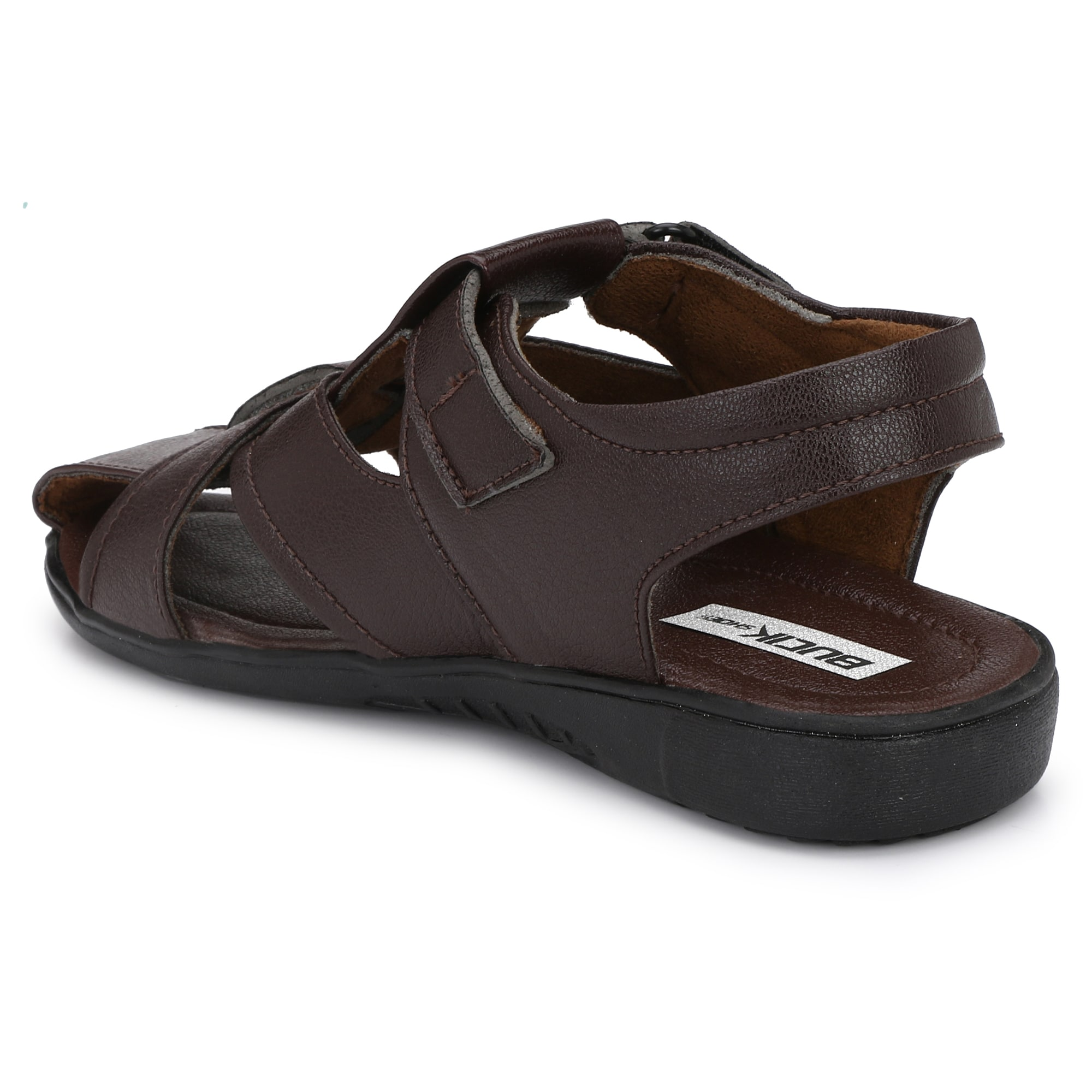 BUCIK Men's BROWN Synthetic Leather Casual Sandal BCK1020-BROWN (Brown,6-10,8 PAIR)
