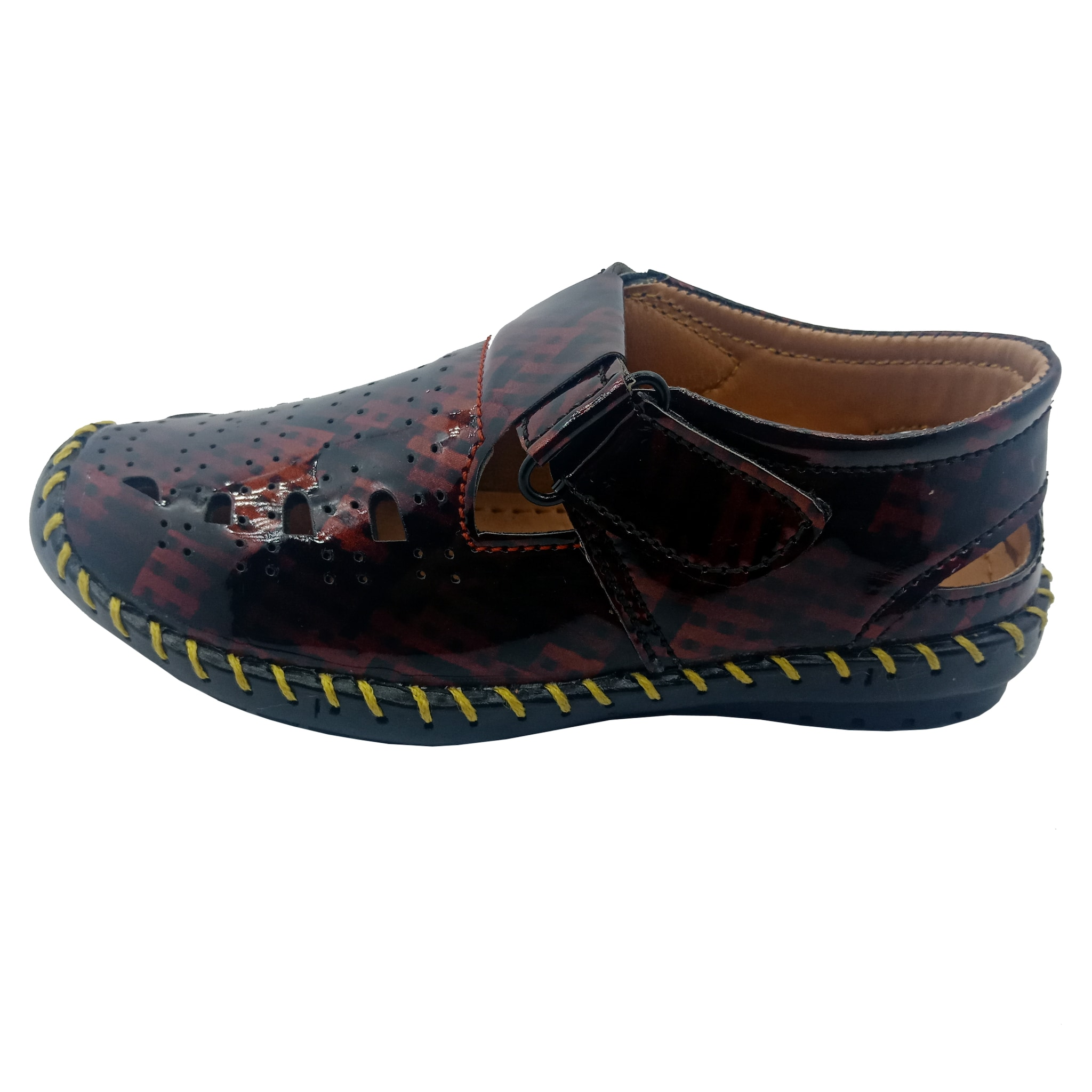 A.P.S  KID'S COMFORTABLE STYLISH TRENDY & FASHIONABLE SHOES APS036K (BROWN,11-1,8 PAIR)