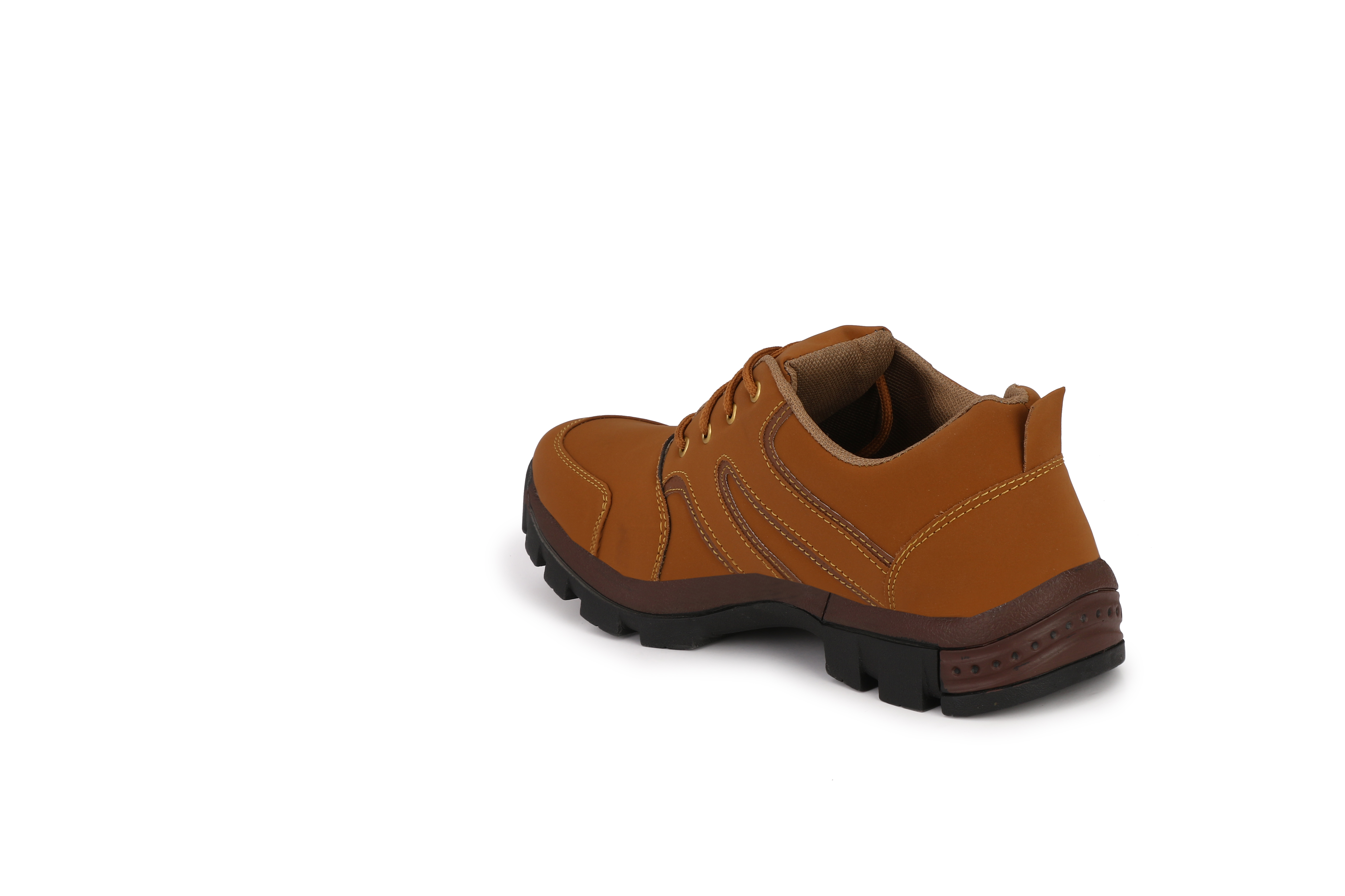 BUCIK Men's Brown Synthetic Leather Smart Casual Shoes BCK082-BROWN (Brown,6-10,8 PAIR)