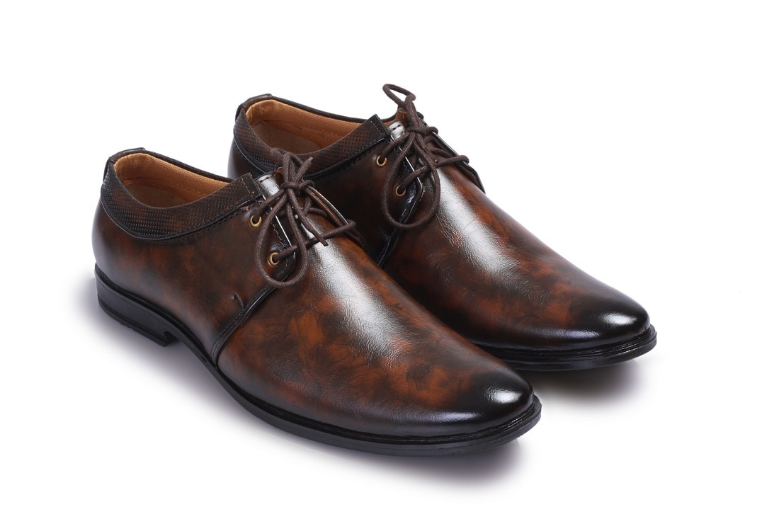 BUCIK Men's BROWN Synthetics Leather Lace Up Formal Shoes BCK008-BROWN (Brown,6-10,8 PAIR)