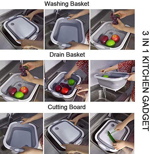 3 In 1 Multifunctional Kitchen Foldable Cutting, Chopping Board